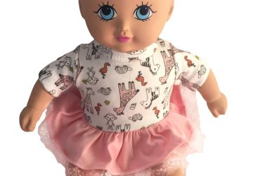 Baby Cora With A Pink Dress