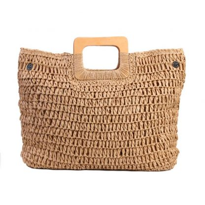 Vintage Bohemian Straw Bag for Women Summer Large Capacity Beach Handbags Rattan Handmade Kintted Travel Bags Bolsas Mujer