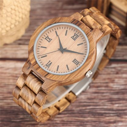 YISUYA Nature Wood Bamboo Watch Men Handmade Full Wooden Creative Women Watches New Fashion Quartz Clock Christmas Gift
