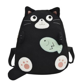 Fashion Cat Canvas Backpack