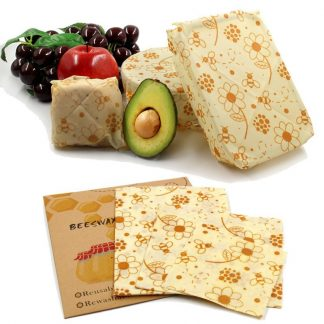 Reusable Organic Beeswax Food Storage Wraps Non-Toxic Beeswax Cloth For Kitchen Tools Dropship