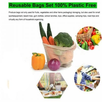 Biodegradable Organic Cotton Mesh Bags