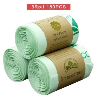 150 pieces Compostable Kitchen Waste Bags Made From Corn Starch